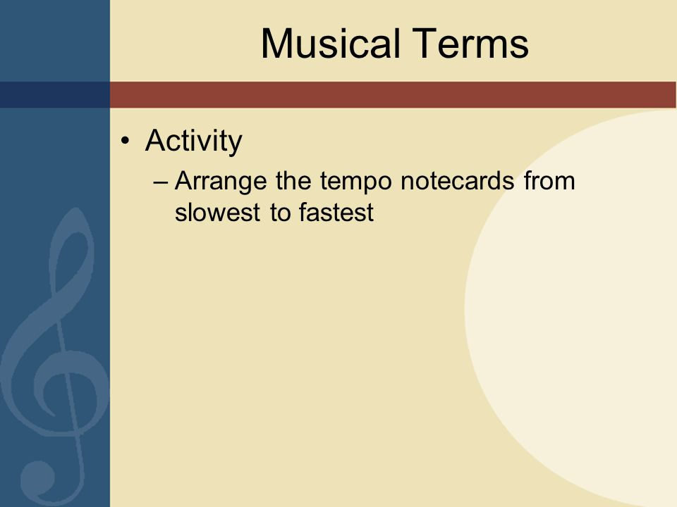 Musical Terms Activity