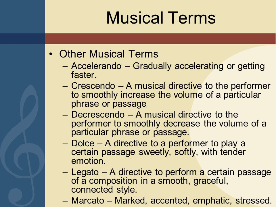 Musical Terms Other Musical Terms