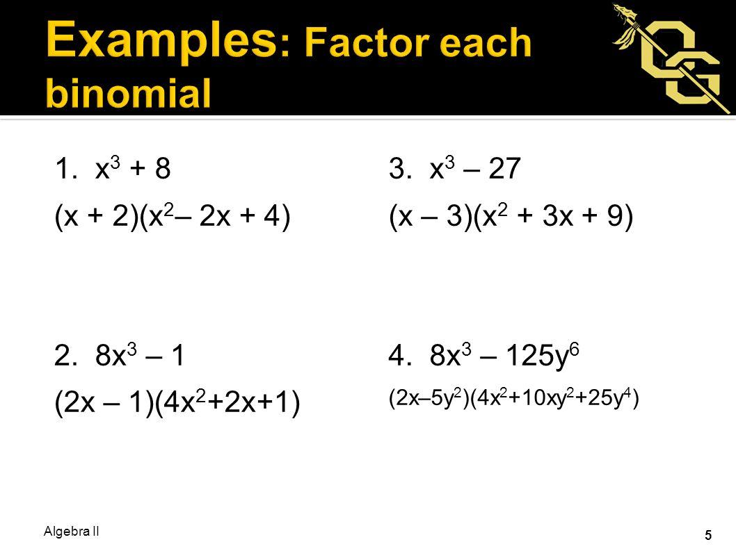 Bellwork: Factor Each 5x2 + 22x + 8 4x2 €  25 81x2 €