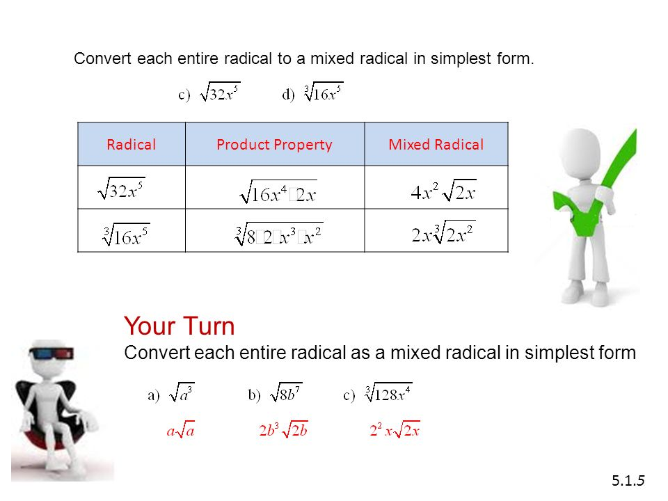 Math 20-1 Chapter 5 Radical Expressions and Equations - ppt video ...