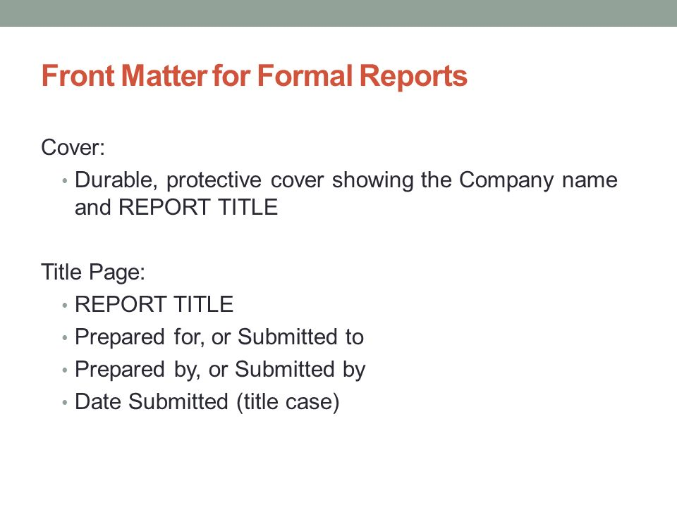 Formal Report Title Page  BesikEightyCo