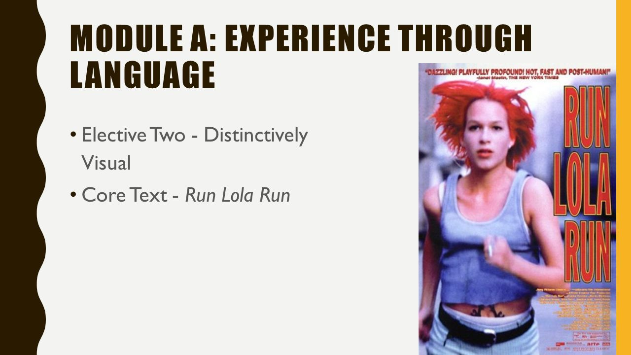 run lola run hsc essays Visual arts english-language films films run lola run lola split screen film lol clock shaun tan carol ann this is an essay / project essays / projects are typically greater than 5 pages in length and are assessments that have been previously submitted by a student for academic grading.