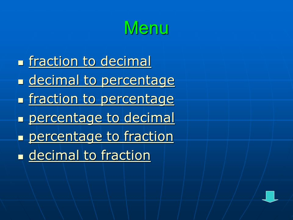 how to turn percentage to fraction