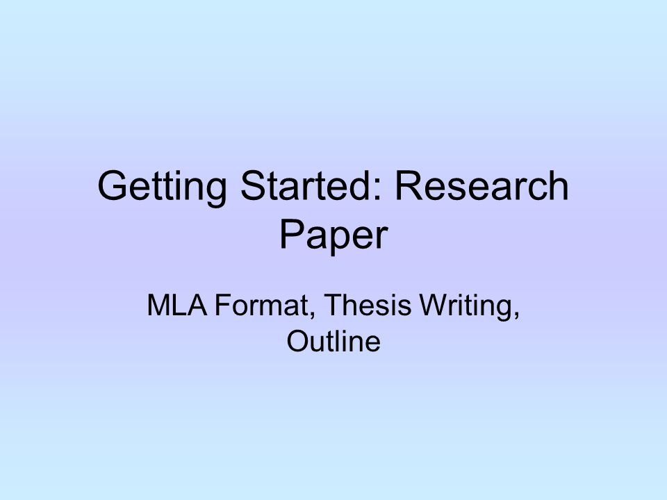getting started research paper ppt video online getting started research paper