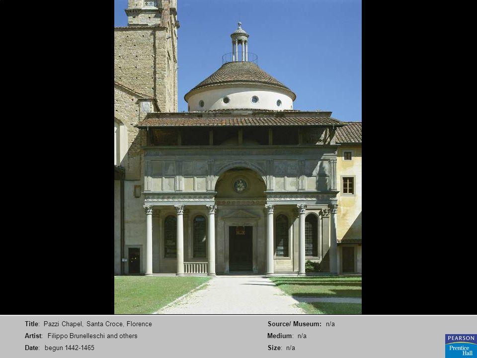 Title: Pazzi Chapel, Santa Croce, Florence