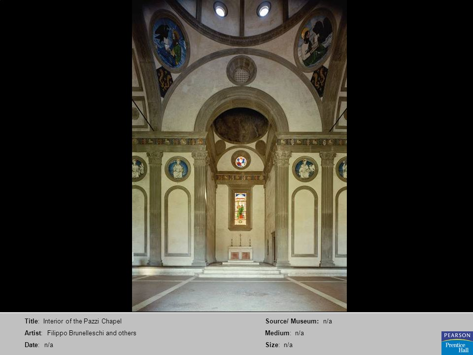 Title: Interior of the Pazzi Chapel