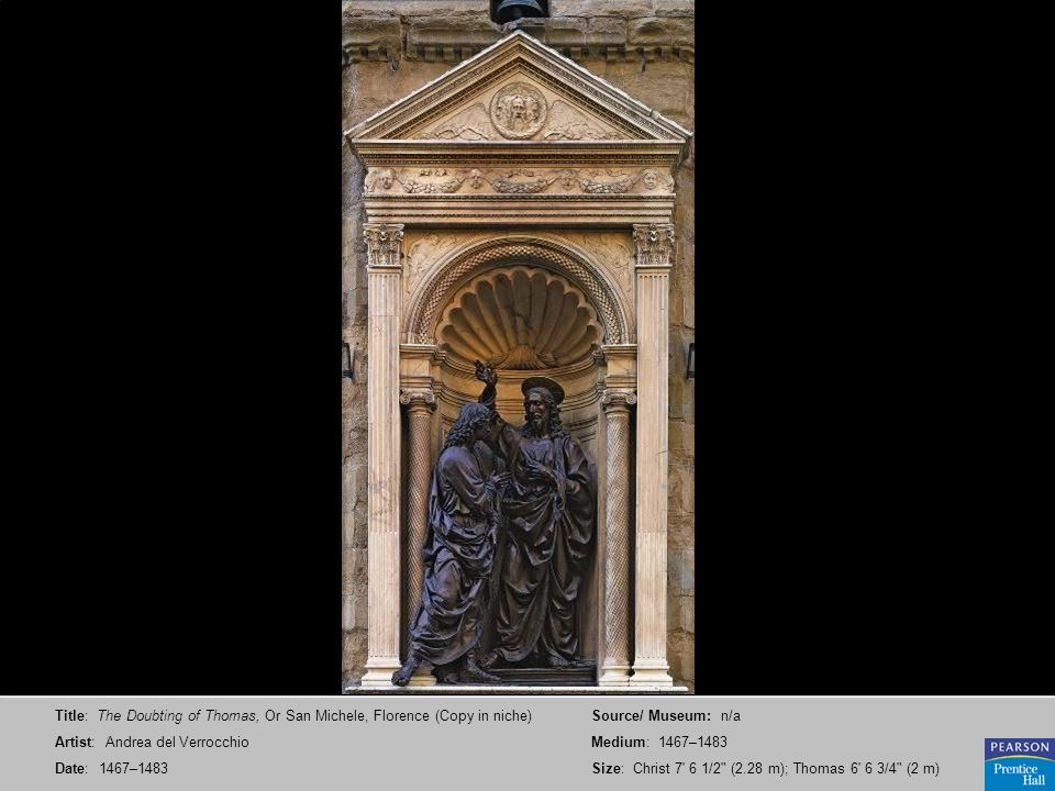 Title: The Doubting of Thomas, Or San Michele, Florence (Copy in niche)
