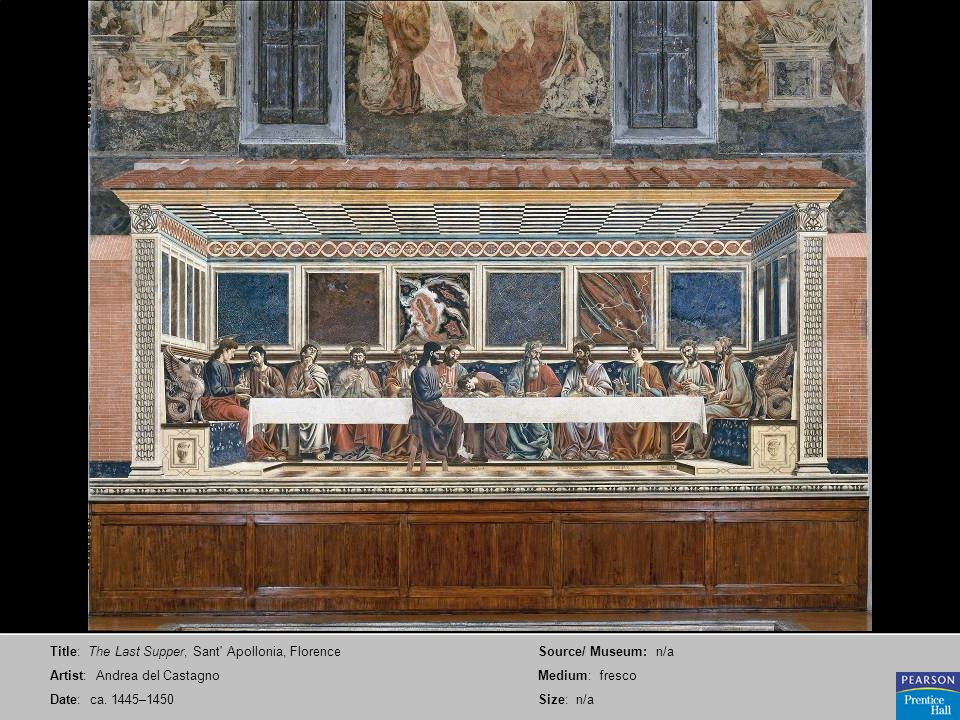 Title: The Last Supper, Sant Apollonia, Florence