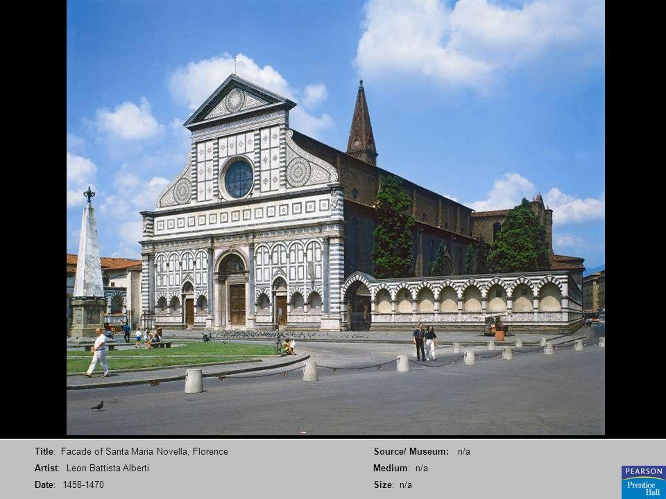 Title: Facade of Santa Maria Novella, Florence