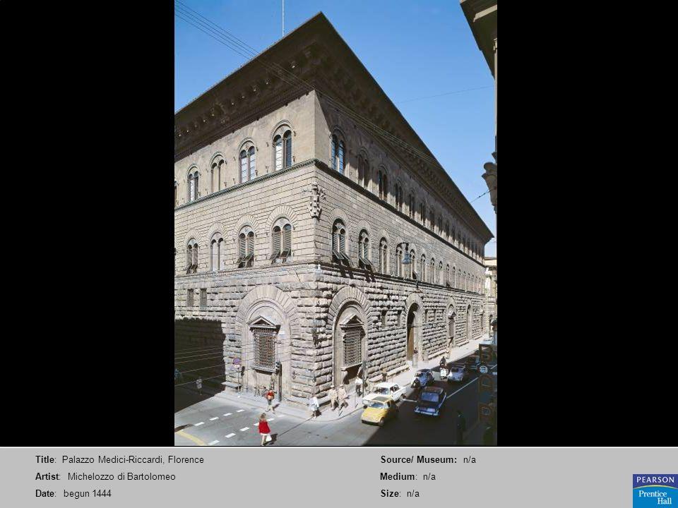 Title: Palazzo Medici-Riccardi, Florence