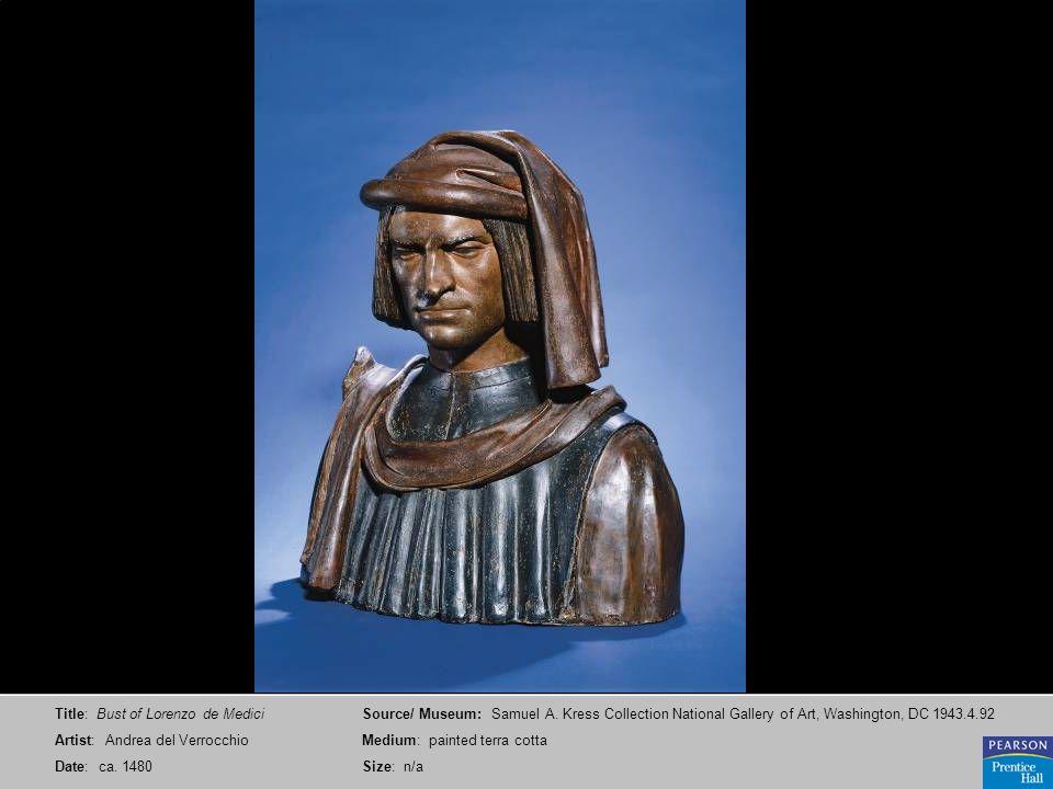 Title: Bust of Lorenzo de Medici