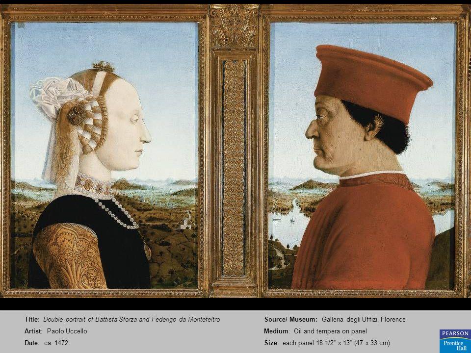 Title: Double portrait of Battista Sforza and Federigo da Montefeltro