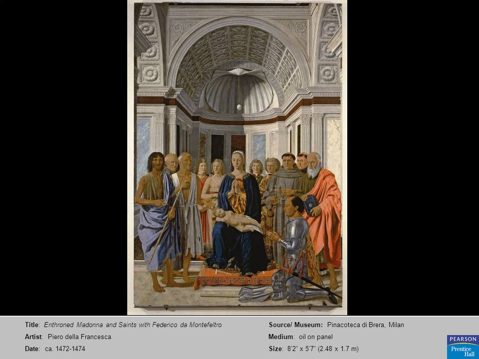 Title: Enthroned Madonna and Saints with Federico da Montefeltro