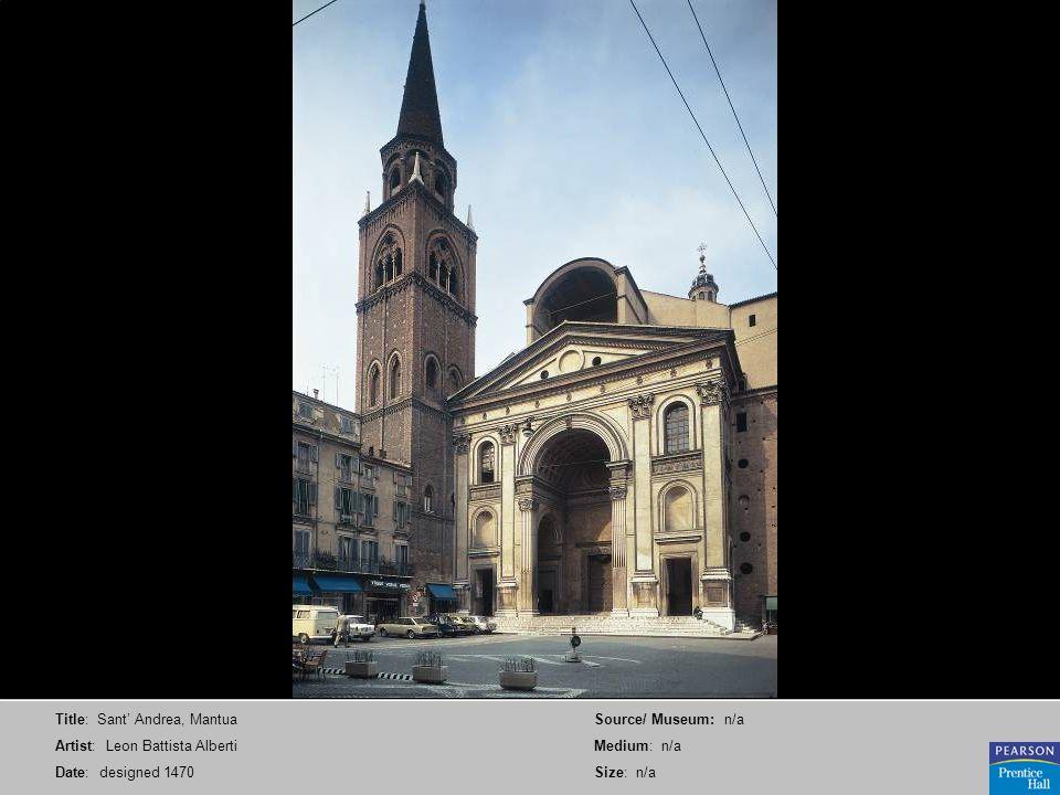 Title: Sant' Andrea, Mantua