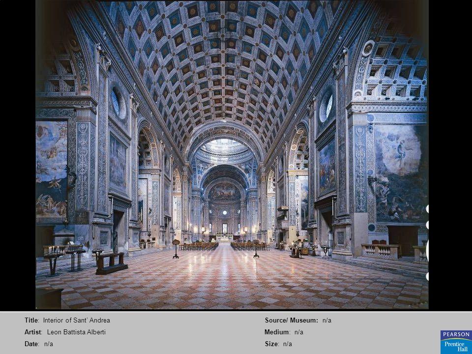 Title: Interior of Sant' Andrea