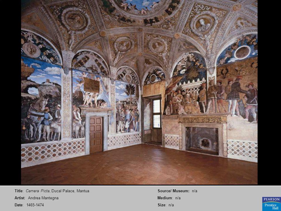 Title: Camera Picta, Ducal Palace, Mantua