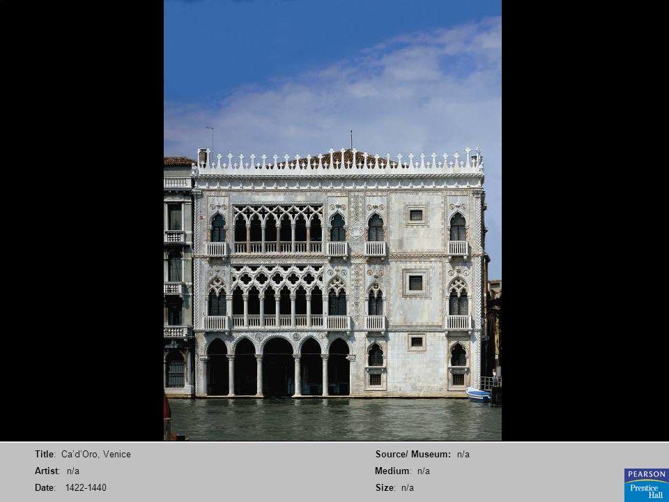 Title: Ca'd'Oro, Venice