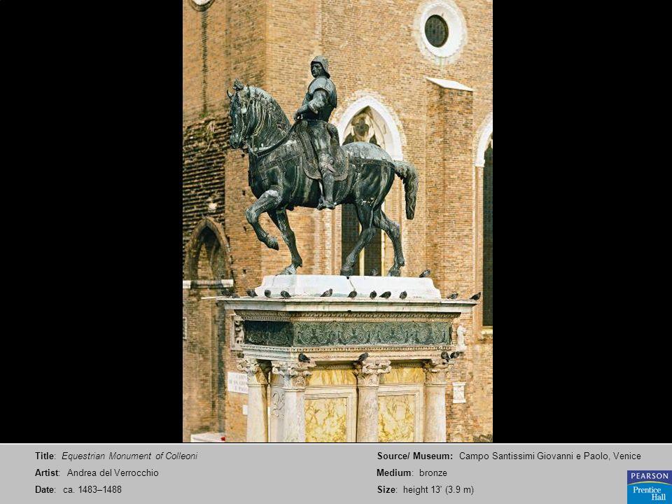 Title: Equestrian Monument of Colleoni