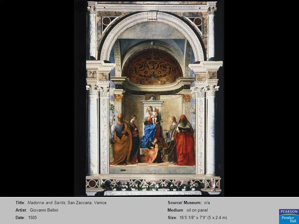 Title: Madonna and Saints, San Zaccaria, Venice