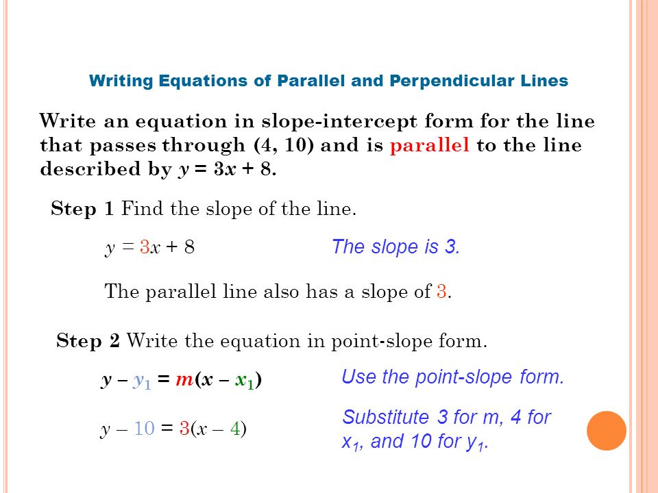 Equations Of Parallel And Perpendicular Lines Worksheet 7492056