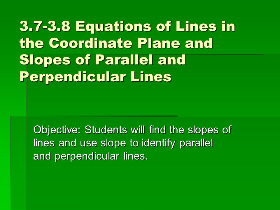how to find equation of lines perpendicular to coordinates