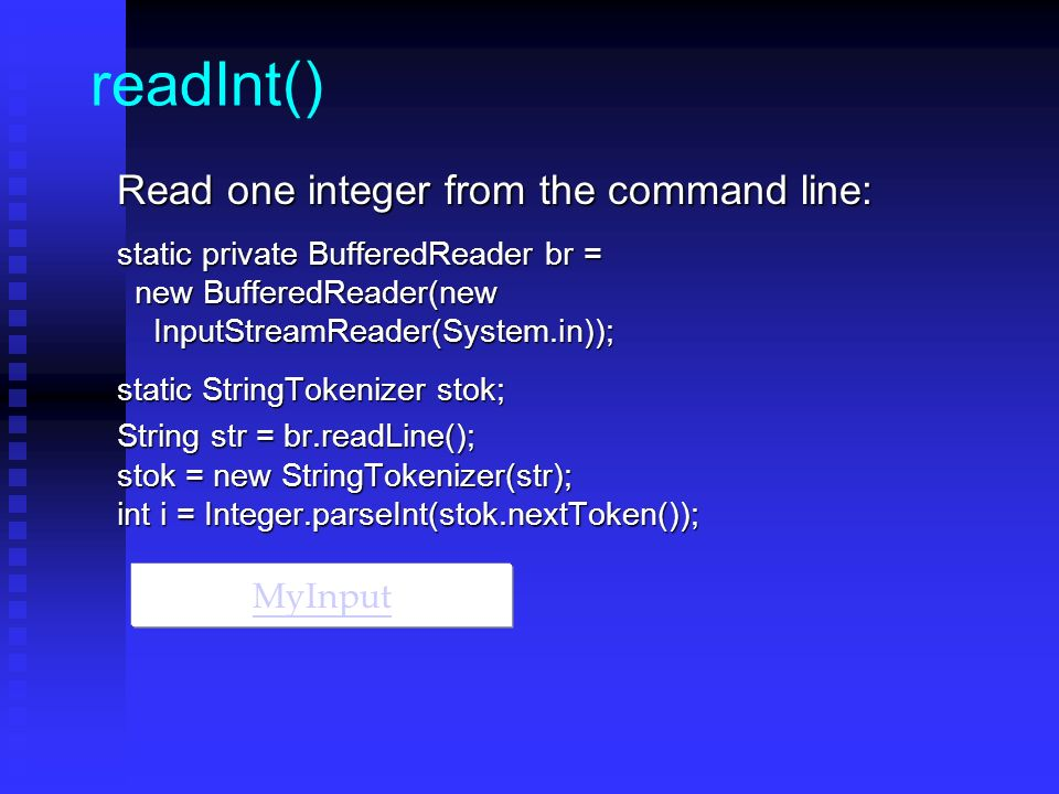 how to get input from command line in java