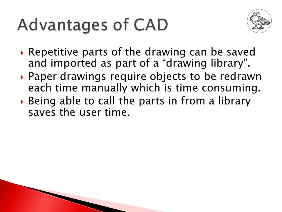 advantages and disadvantages of using cad Cad and cam advantages and disadvantages 50 / 5 teacher recommended hide show resource information design & technology: textiles cad & cam computer aided.