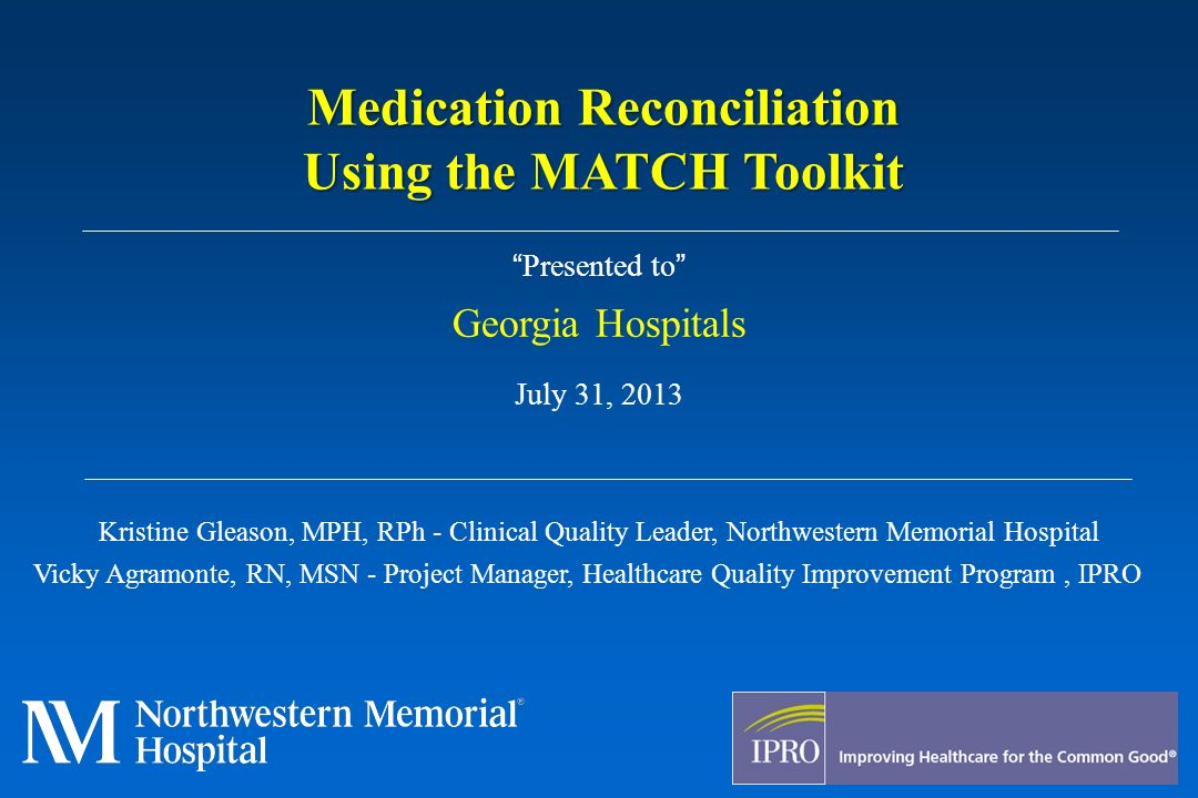 medication reconcilliation