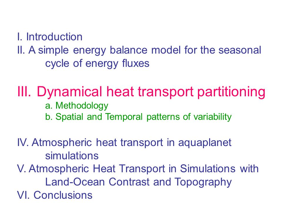 III. Dynamical heat transport partitioning