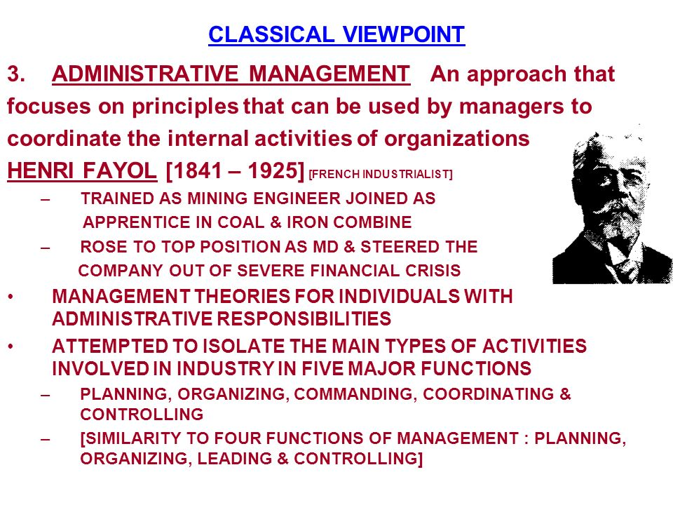 ADMINISTRATIVE MANAGEMENT An approach that