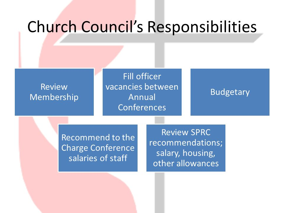 12 church councils responsibilities - Church Administrator Salary