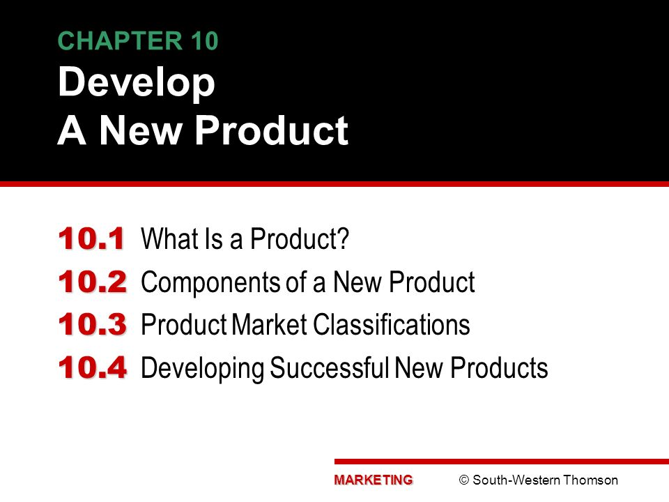 CHAPTER 10 Develop A New Product - ppt download