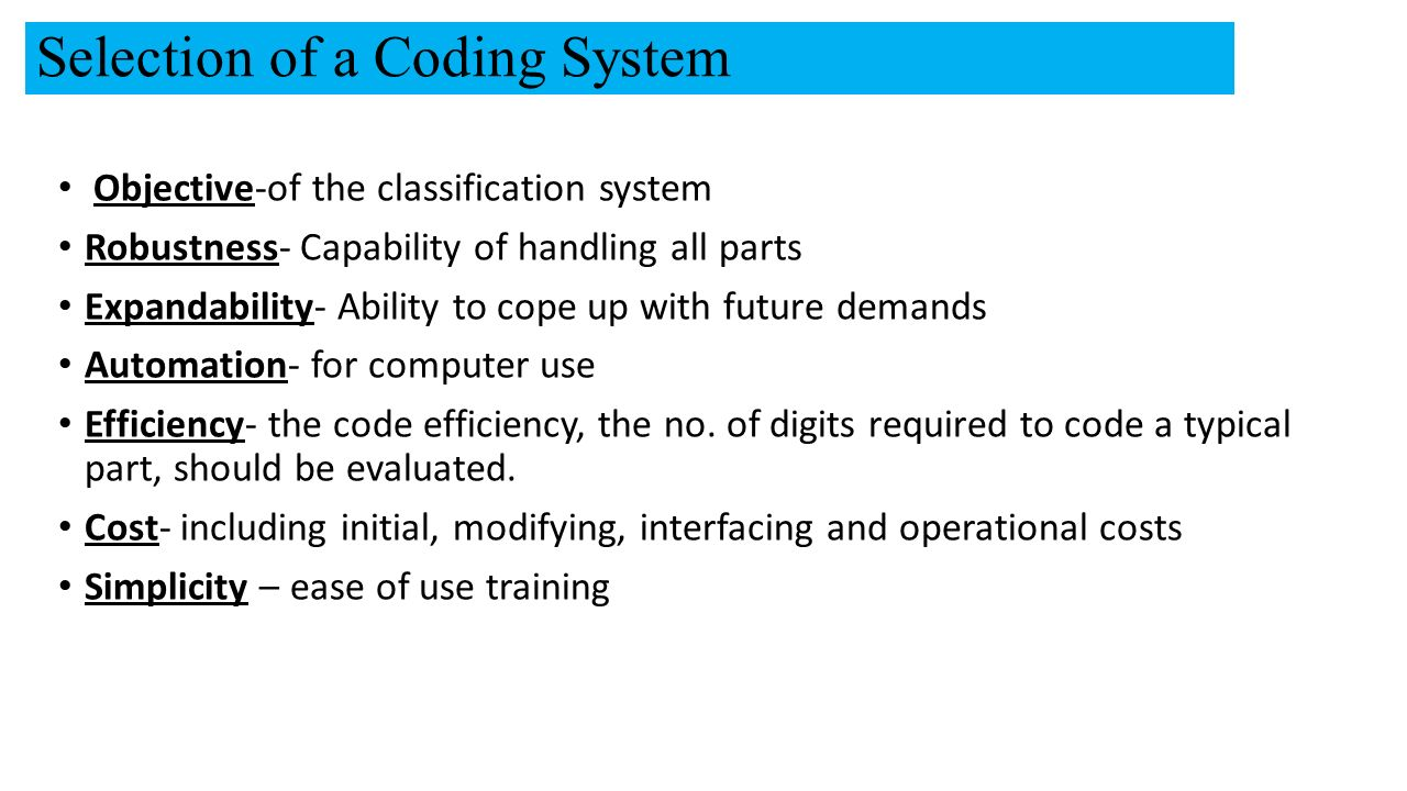 part classification and coding system in group technology pdf