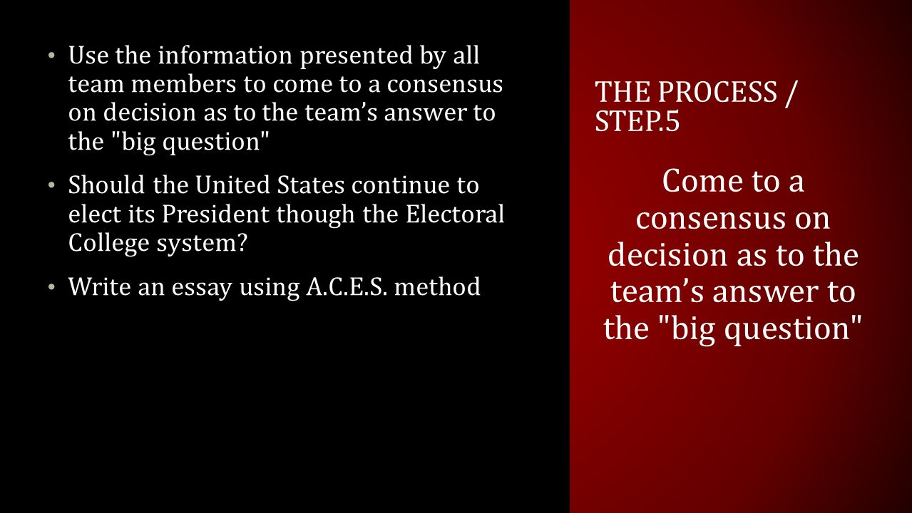 should we keep the electoral college ppt 10 use