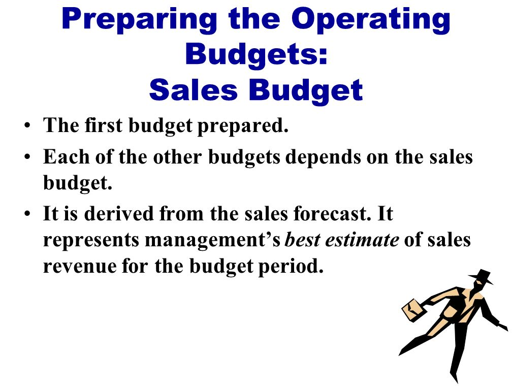 Preparing the Operating Budgets: Sales Budget