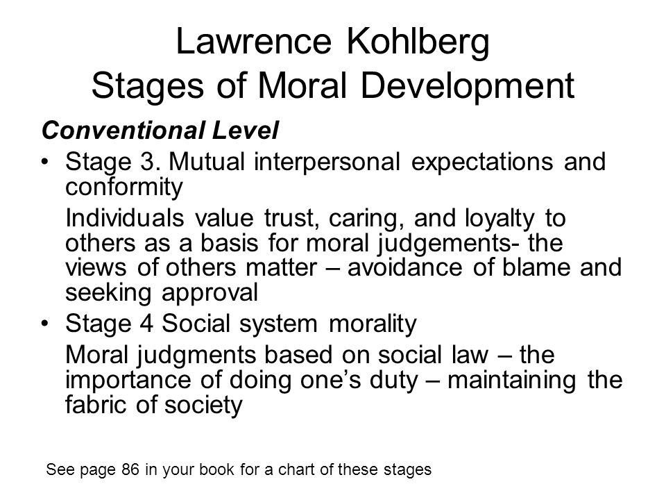 lawrence kohlbergs stages of moral development Kohlbergs theory essay custom student lawrence kohlberg's stages of moral development constitute where a woman is in moral development in regards to.