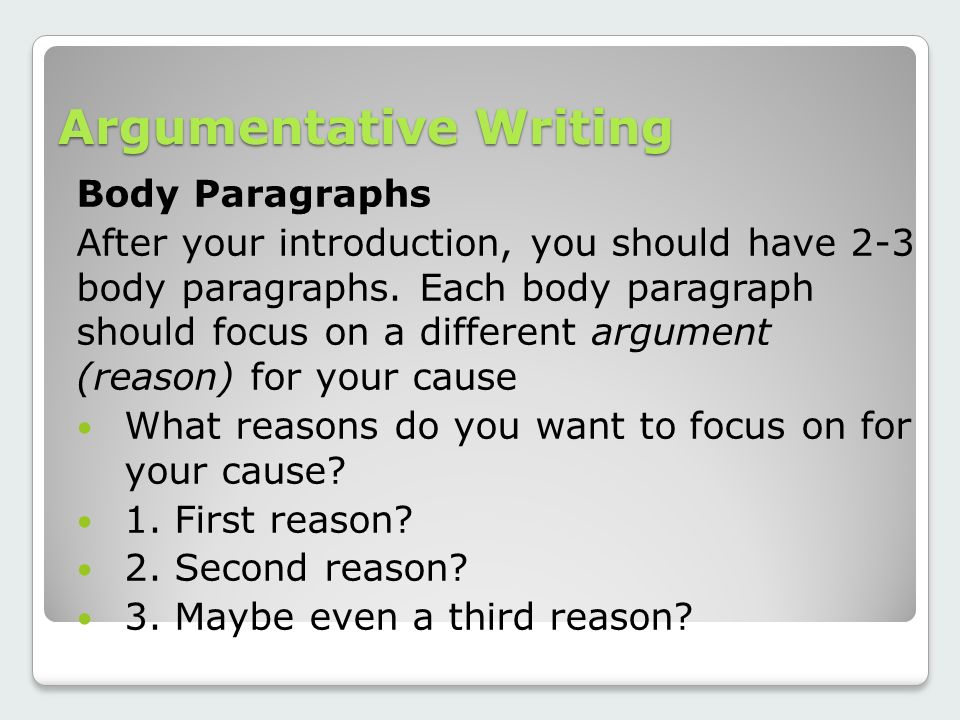 after your introduction each paragraph of your essay should Find out how to write a paragraph well and  of their essay, which should include an introduction that  in each paragraph of your essay.