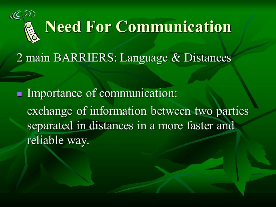 communication needs methods and barriers Responsible customer service departments establish methods and techniques for  handle communication barriers in  manner that meets the communication needs of .
