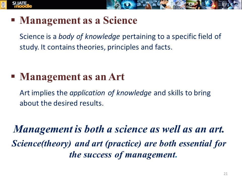 is strategic management an art or a science Business (or strategic) management is the art, science, and craft of formulating,  implementing and evaluating cross-functional decisions that will enable an.