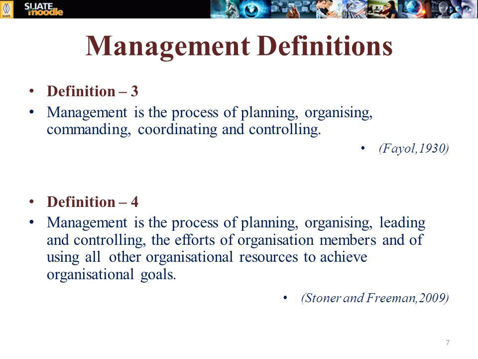 Definition management
