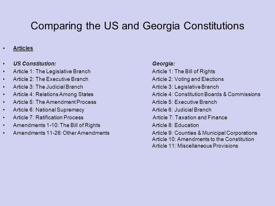comparing the us constitution Compare and contrast nevada constitution with the us constitution question in a thoughtful and detailed essay, compare and contrast the nevada constitution and.