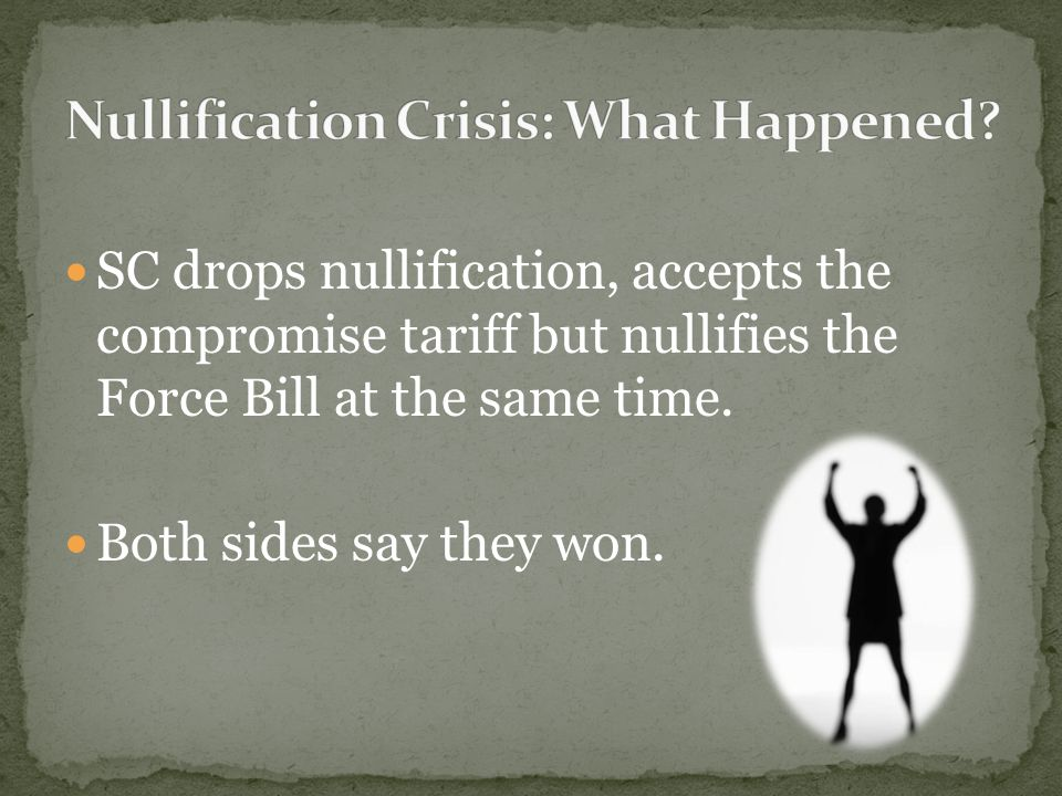 """essay on nullification crisis Free essay: president jackson: common man or """"king andrew"""" andrew  in the  nullification crisis had widespread harmful effects throughout."""