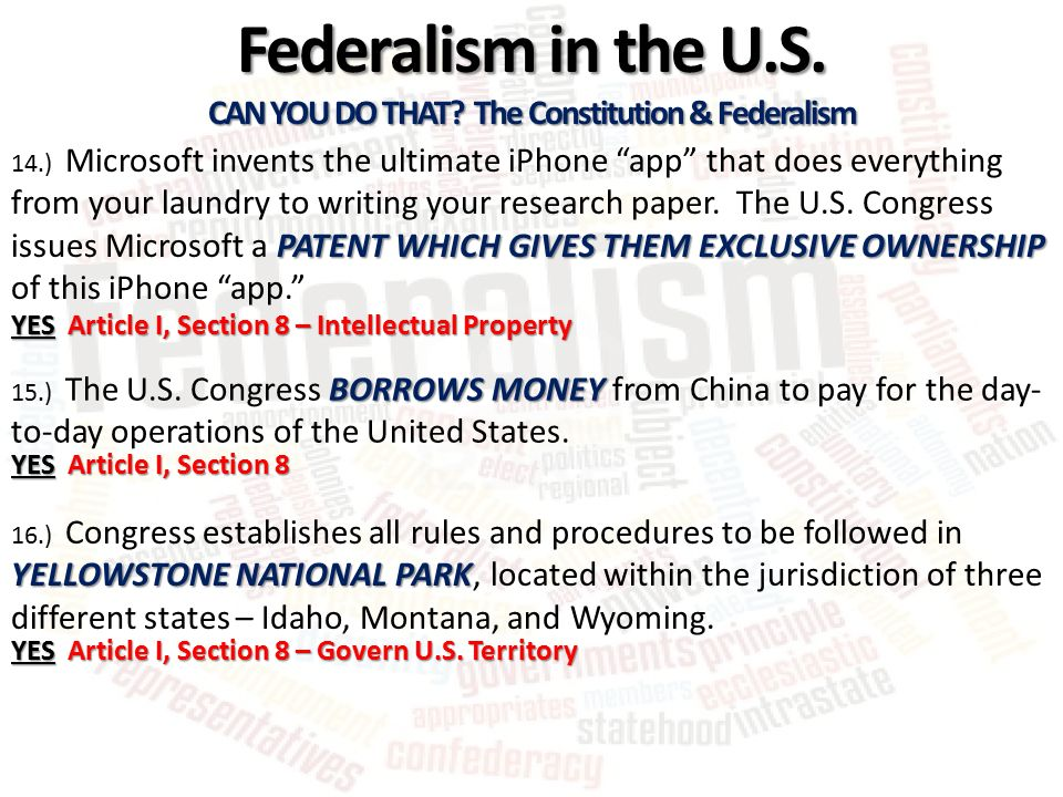 Can You Do That The Constitution  Federalism  Ppt Video Online  Can You Do That The Constitution  Federalism
