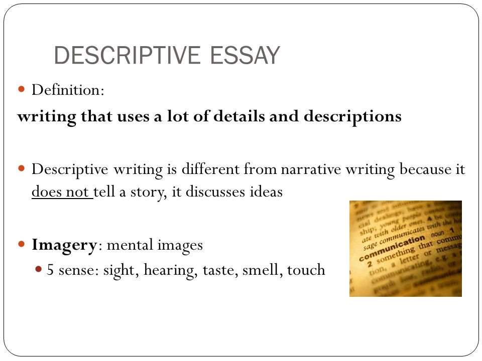 application essay writing definition