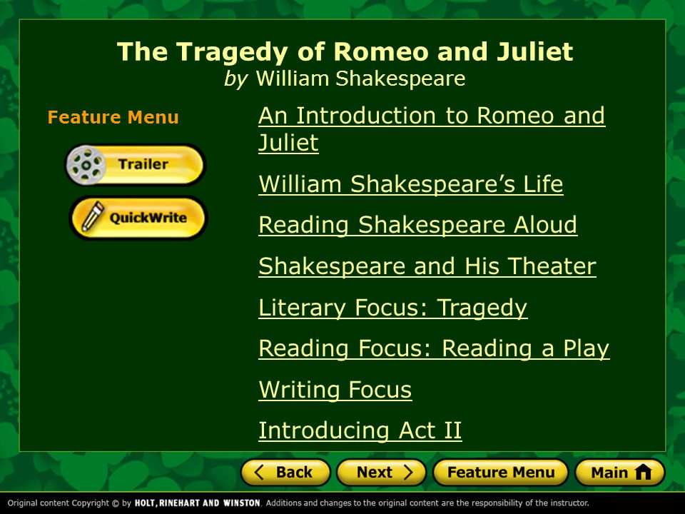 the tragedy in william shakespeares story romeo and juliet Summary of william shakespeare's romeo and juliet: the classic story of boy meets girl girl's family hates boy's family boy and girl kill themselves.