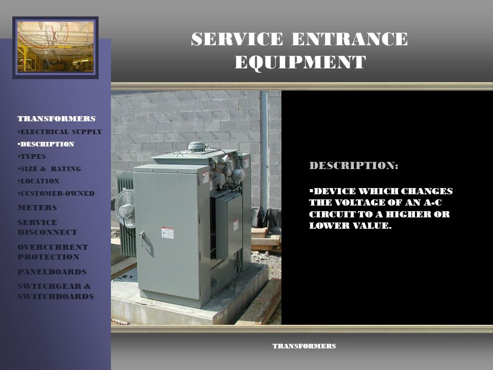 Service Entrance Equipment Ppt Video Online Download