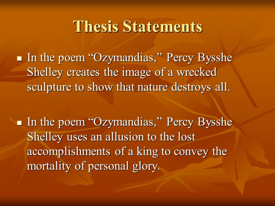 Essay about percy bysshe shelley