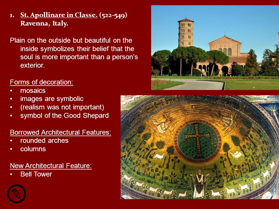 St. Apollinare in Classe. (522-549) Ravenna, Italy.