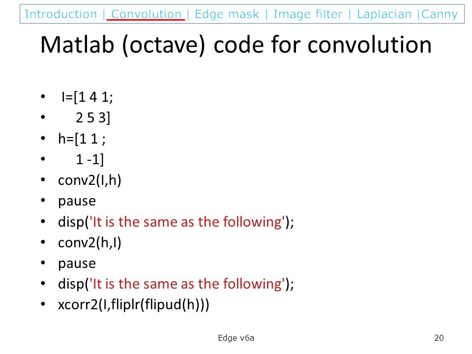 How to Apply Convolution in MATLAB Without Using the Function