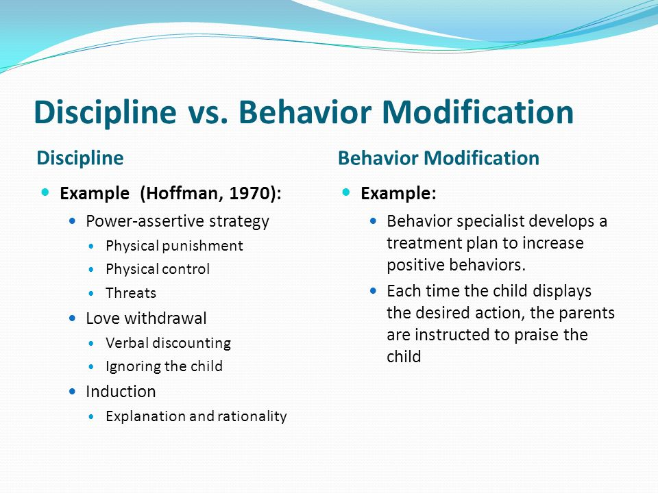 middle childhood and the environment ppt  behavior modification